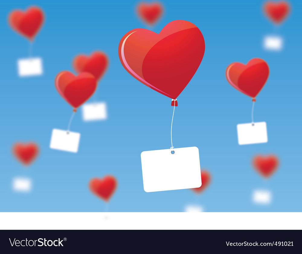 Heart shaped balloons vector | Price: 3 Credit (USD $3)