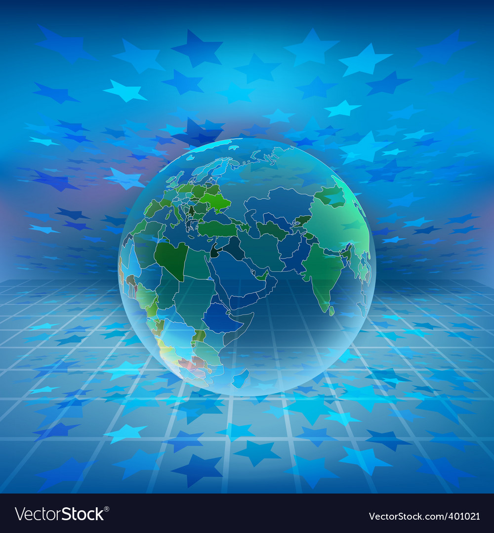Holographic world vector | Price: 1 Credit (USD $1)