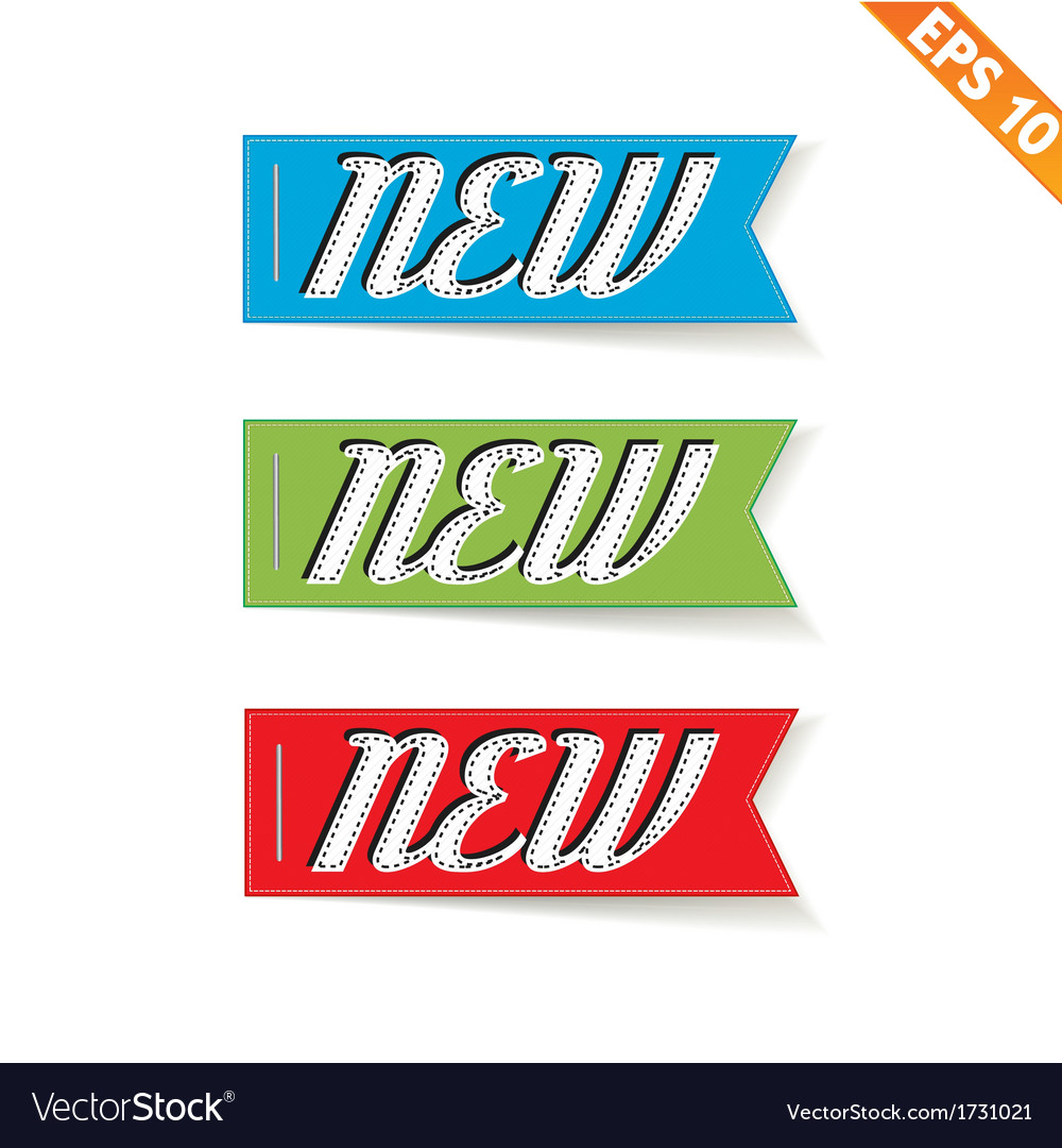Label stitch new tag - - eps10 vector | Price: 1 Credit (USD $1)