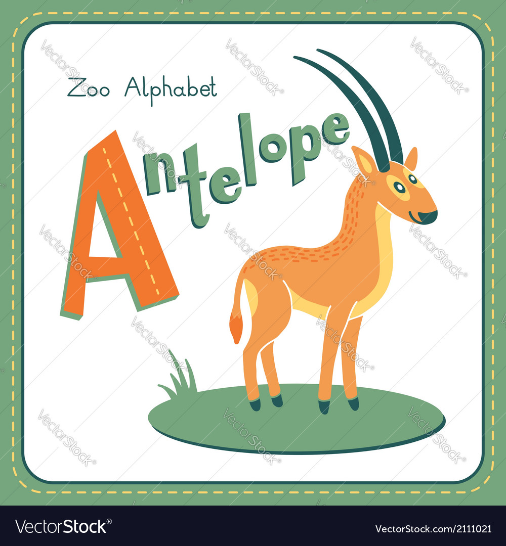 Letter a - antelope vector | Price: 1 Credit (USD $1)