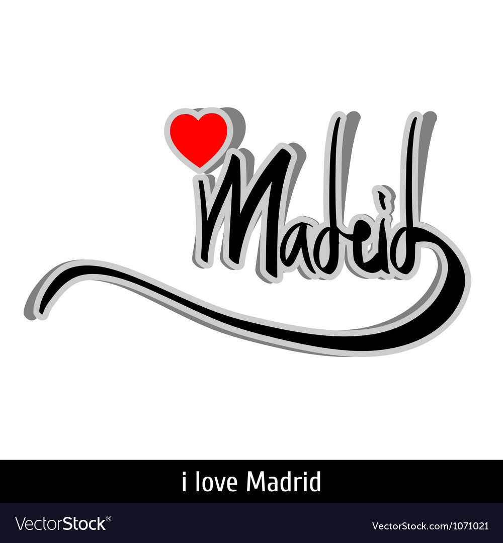 Madrid greetings hand lettering calligraphy vector | Price: 1 Credit (USD $1)