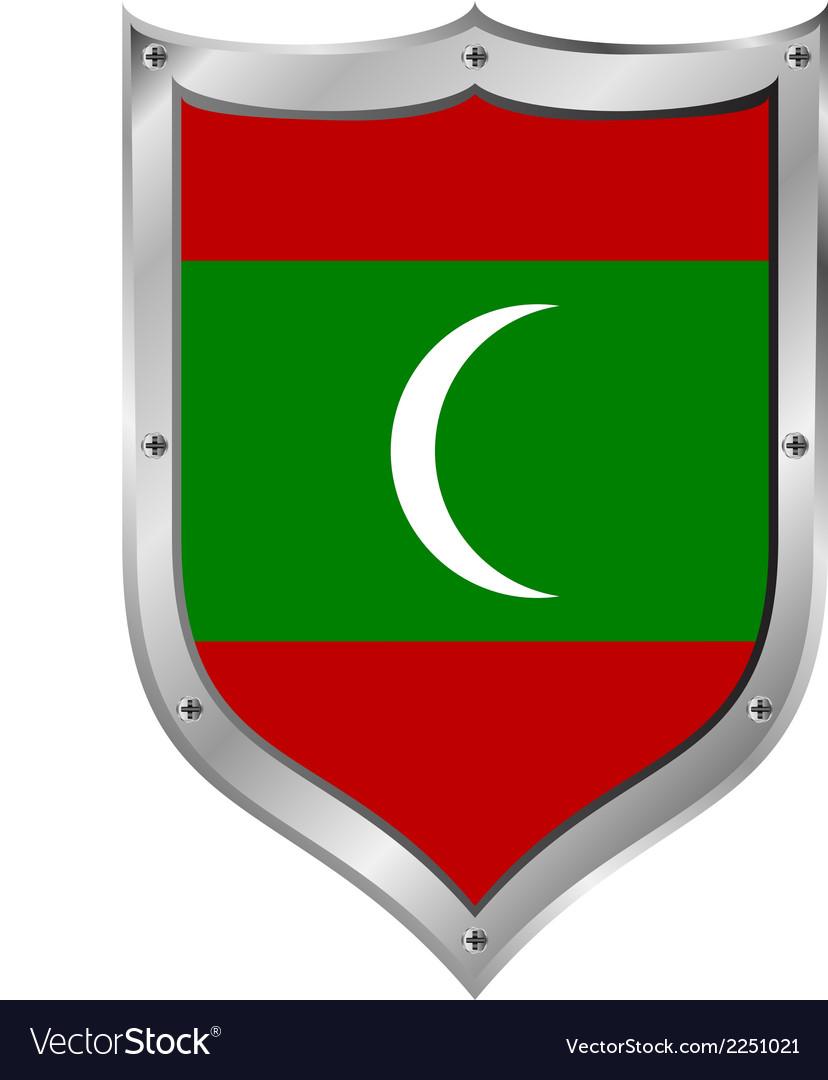 Maldives flag button vector | Price: 1 Credit (USD $1)