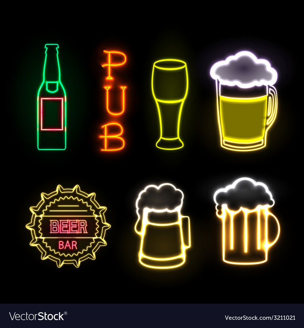 Neon sign beer bar vector | Price: 3 Credit (USD $3)