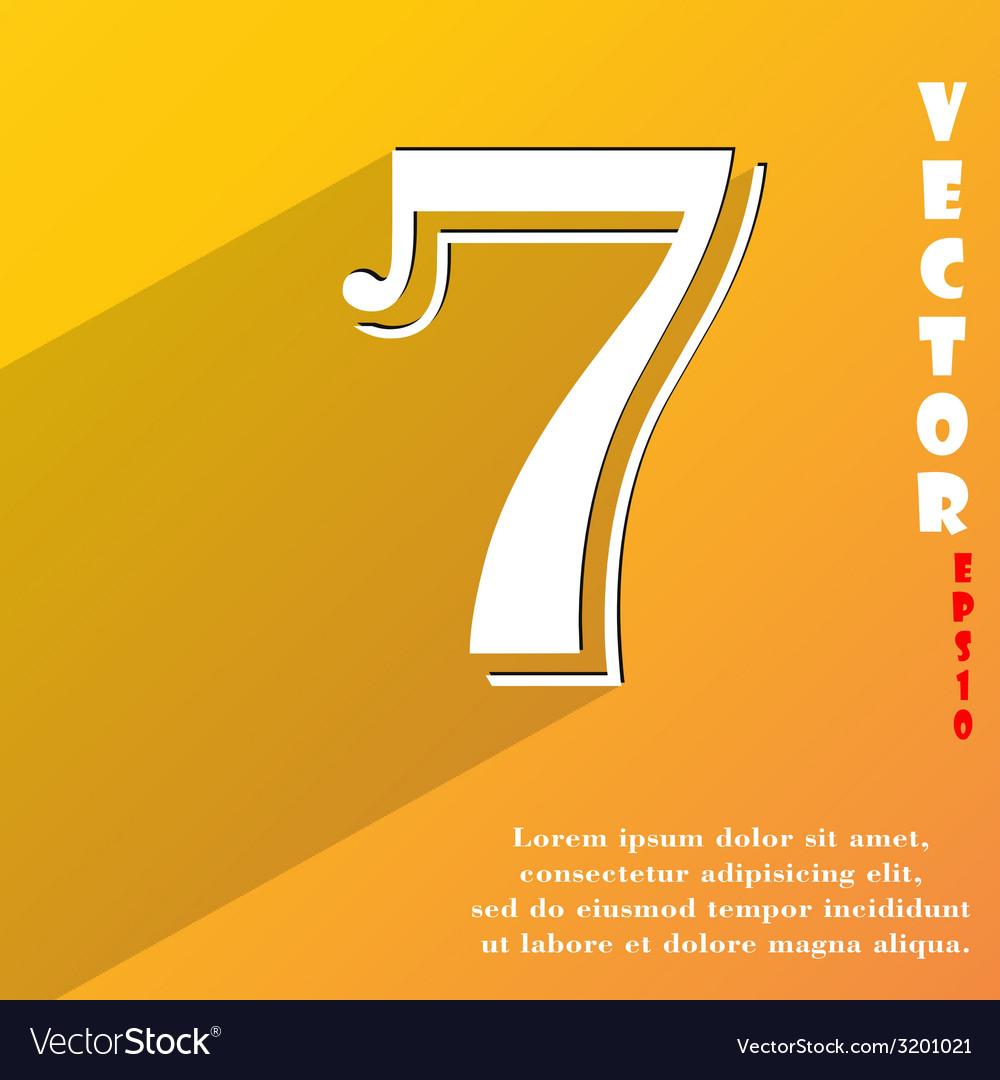 Number seven icon symbol flat modern web design vector   Price: 1 Credit (USD $1)