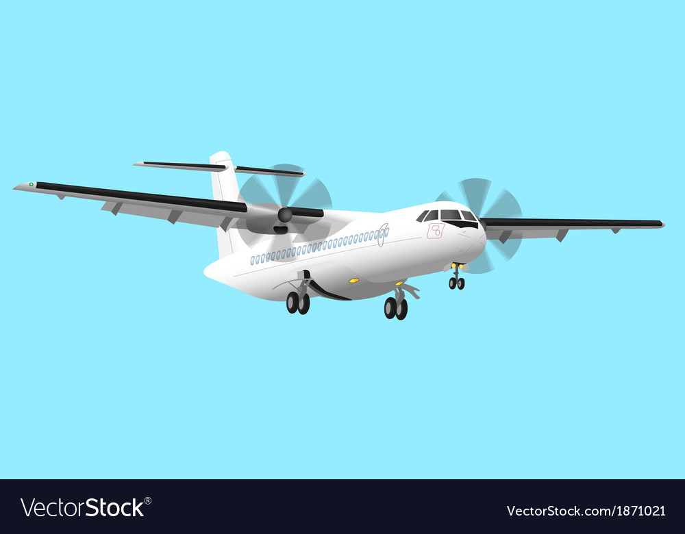 Regional airplane vector | Price: 3 Credit (USD $3)