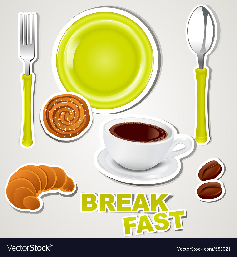 Set of icons breakfast vector | Price: 1 Credit (USD $1)