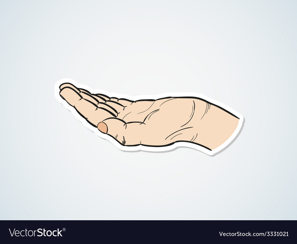 Sketch of the hand vector | Price: 1 Credit (USD $1)