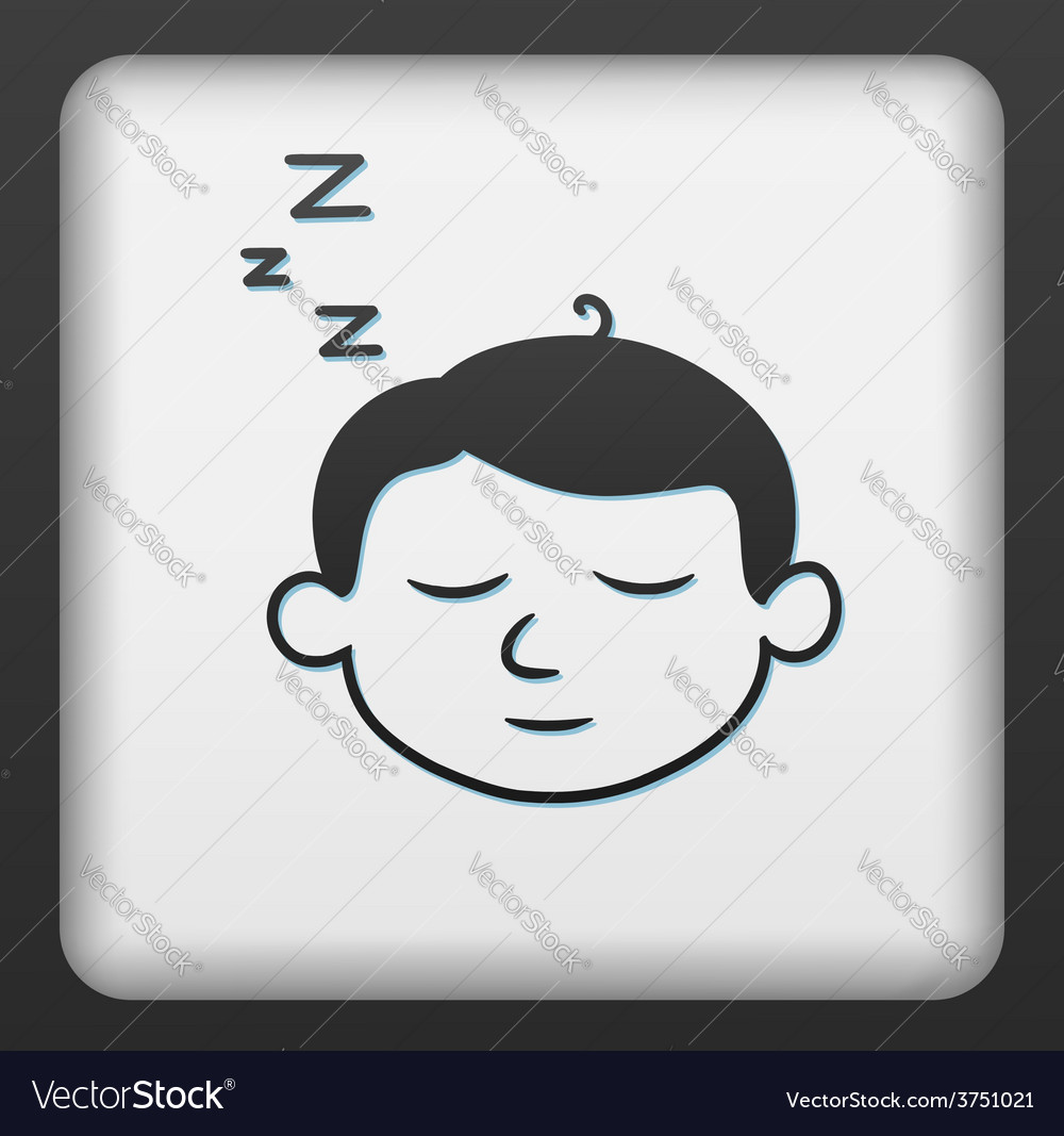 Sleep button vector | Price: 1 Credit (USD $1)