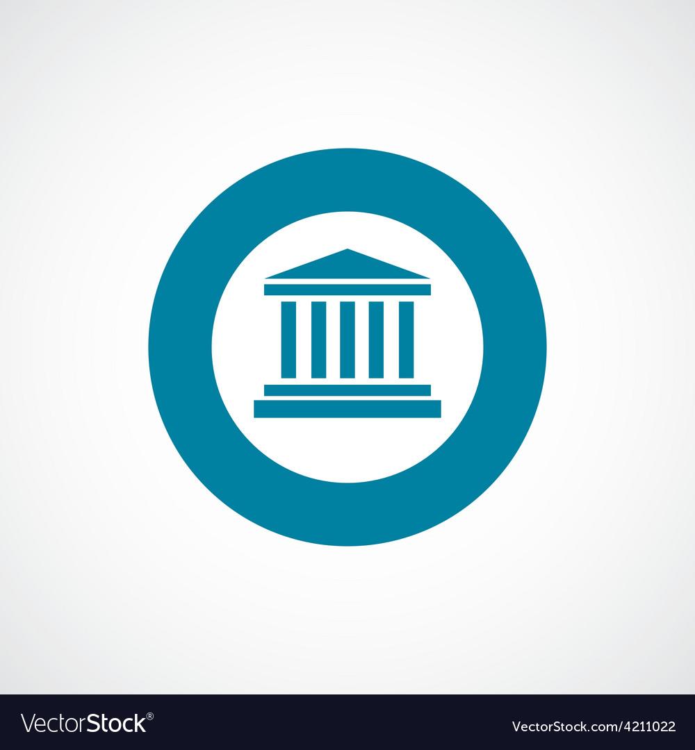 Building icon bold blue circle border vector | Price: 1 Credit (USD $1)