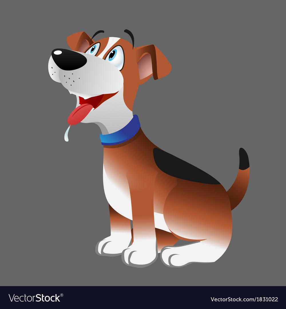 Dog beagle panting vector