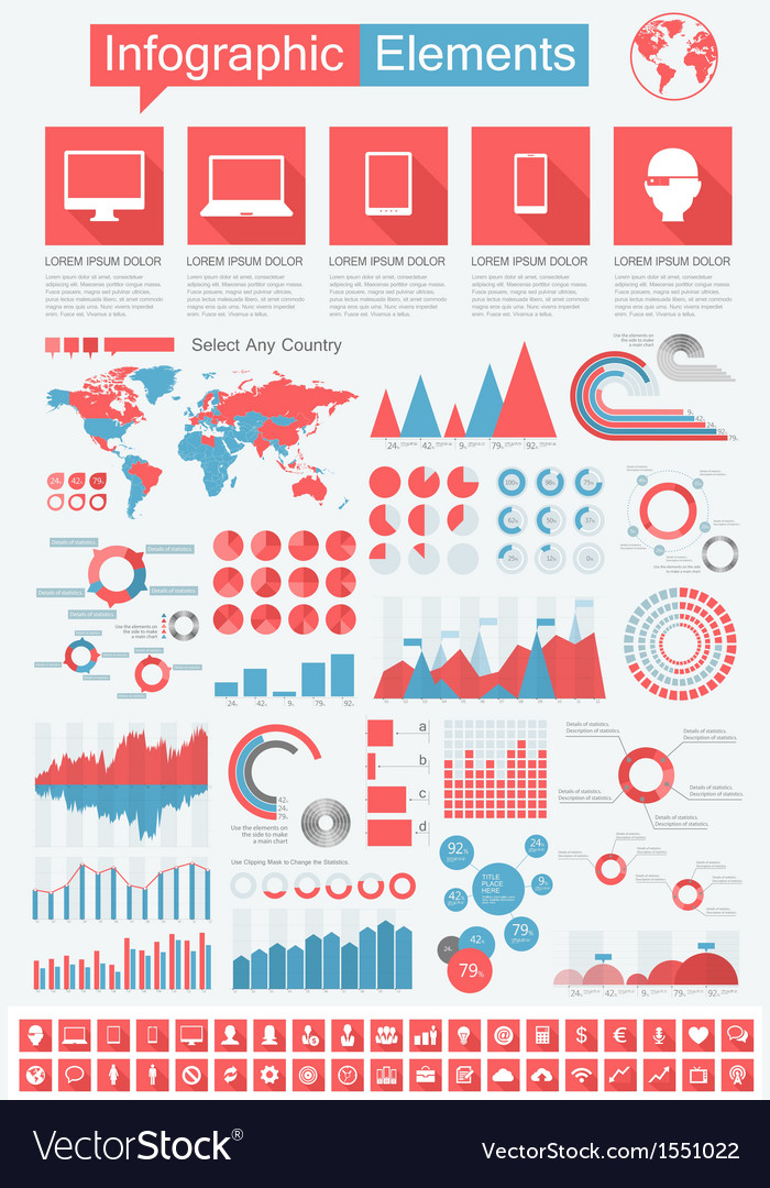 It industry infographic elements vector   Price: 3 Credit (USD $3)