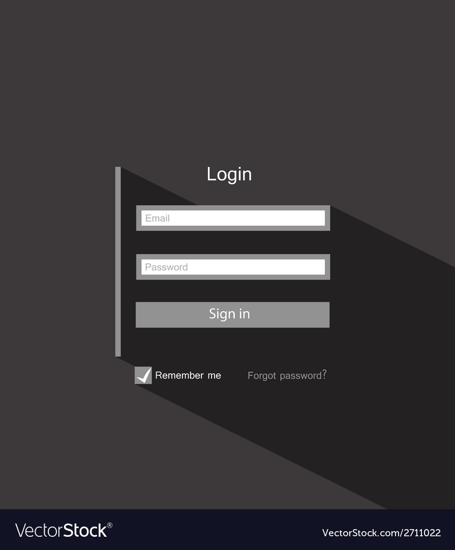 Login vector | Price: 1 Credit (USD $1)