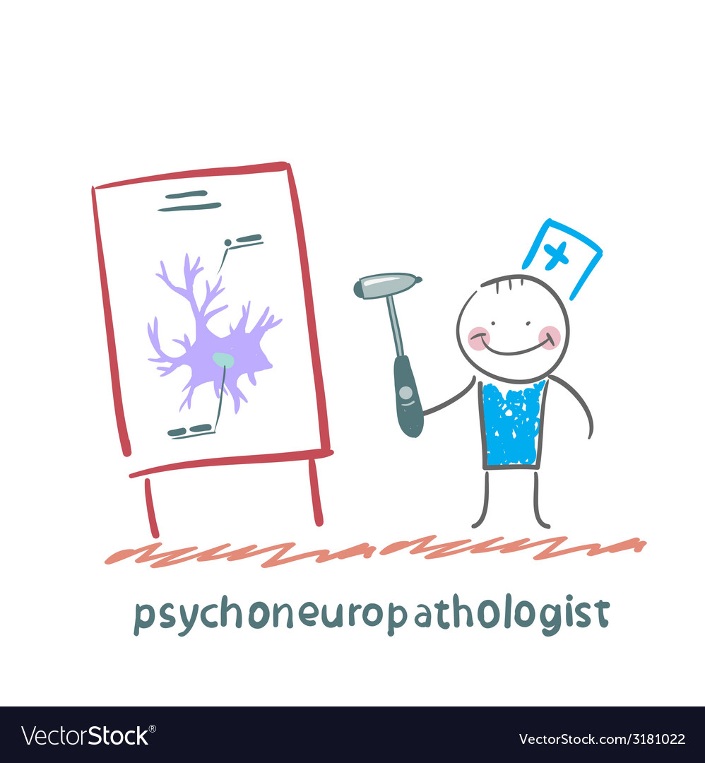 Psychoneuropathologist holds the hammer and says a vector | Price: 1 Credit (USD $1)