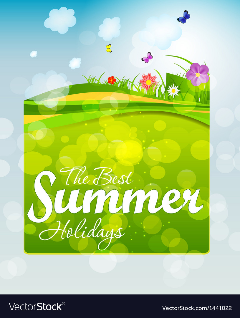 Summer holidays background vector   Price: 1 Credit (USD $1)