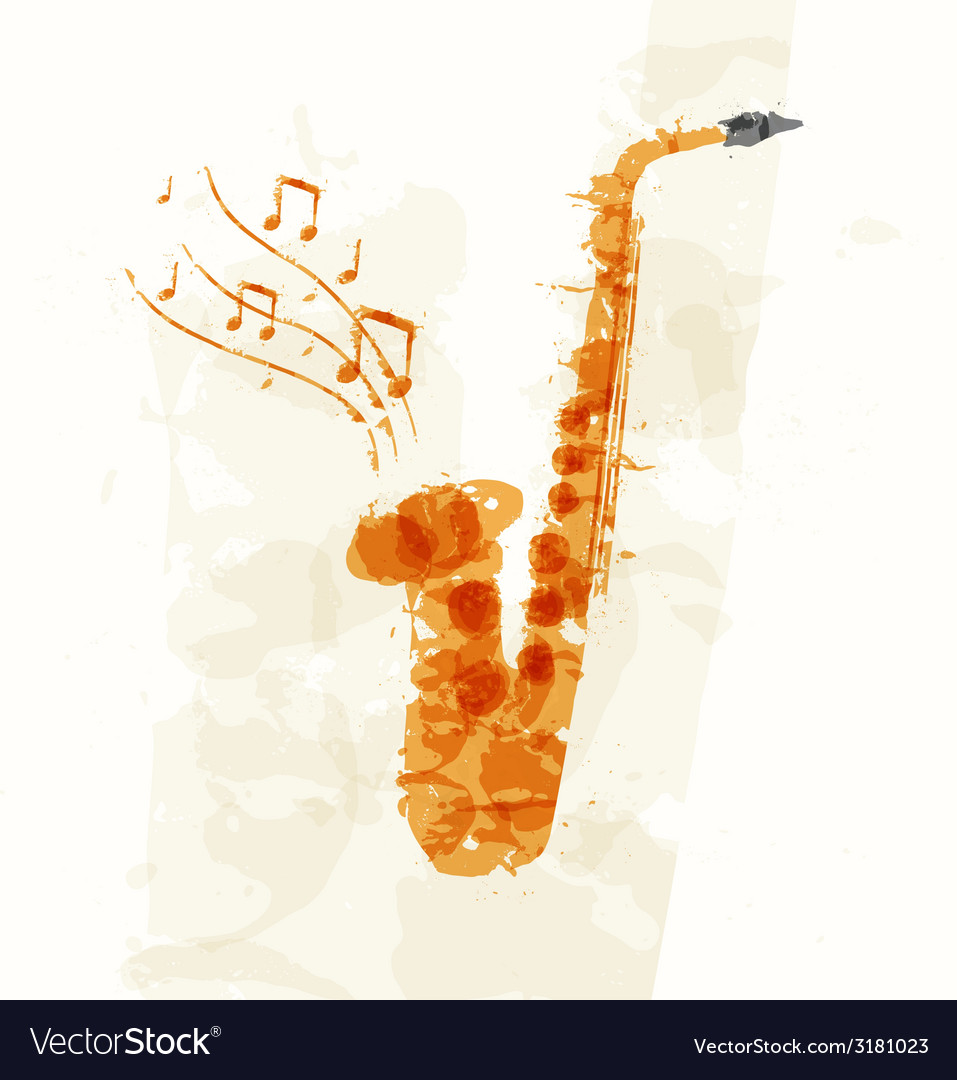 Abstract image of a saxophone vector | Price: 1 Credit (USD $1)