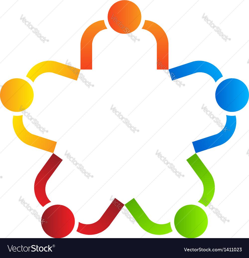 Business logo design team star 5 vector | Price: 1 Credit (USD $1)