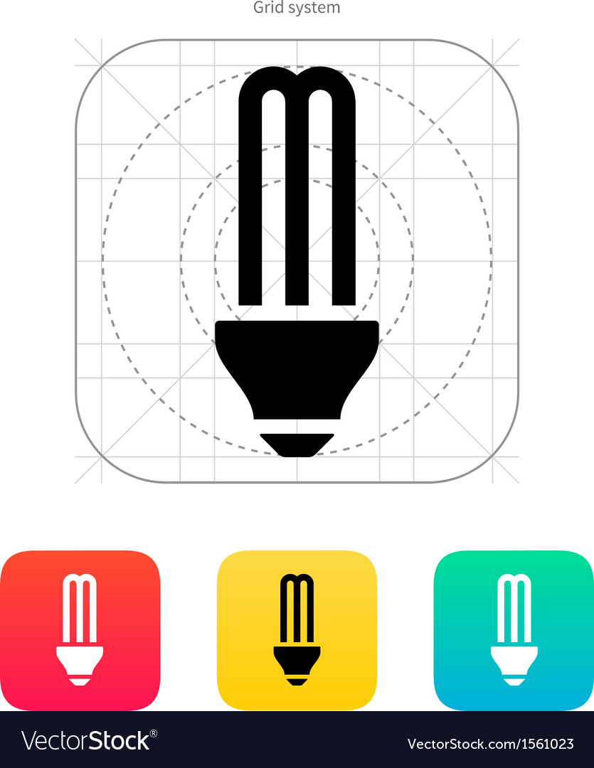 Cfl light bulb icon vector | Price: 1 Credit (USD $1)