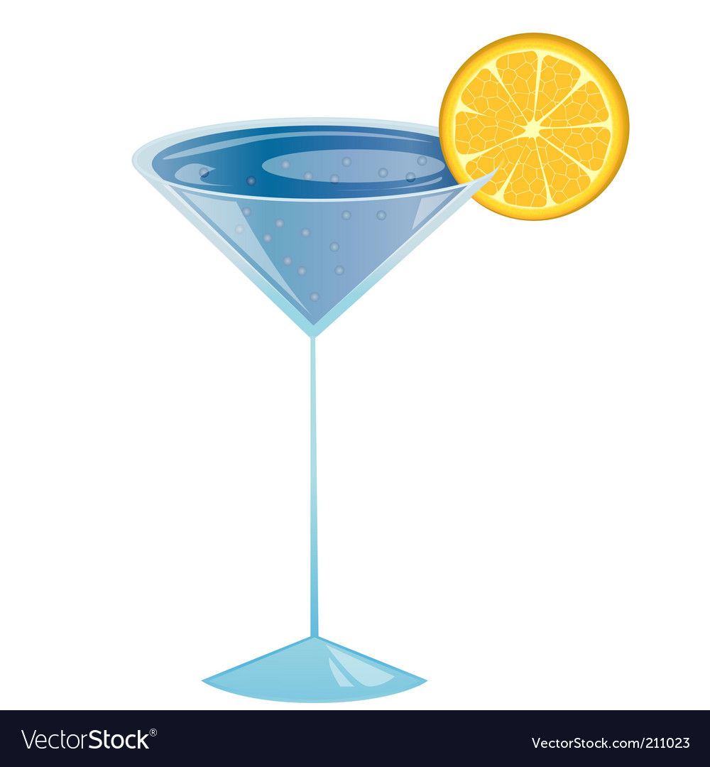 Curacao cocktail vector | Price: 1 Credit (USD $1)