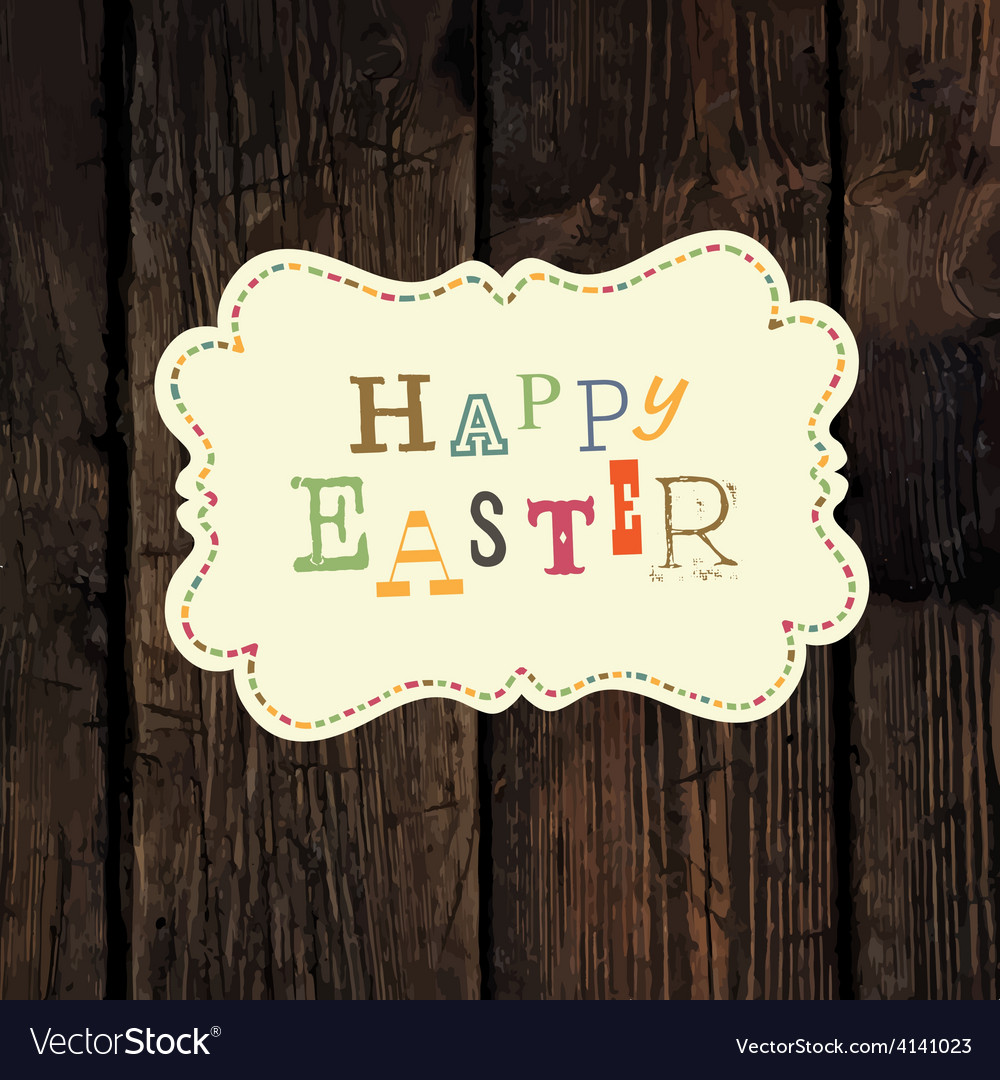 Easter greeting vector | Price: 1 Credit (USD $1)