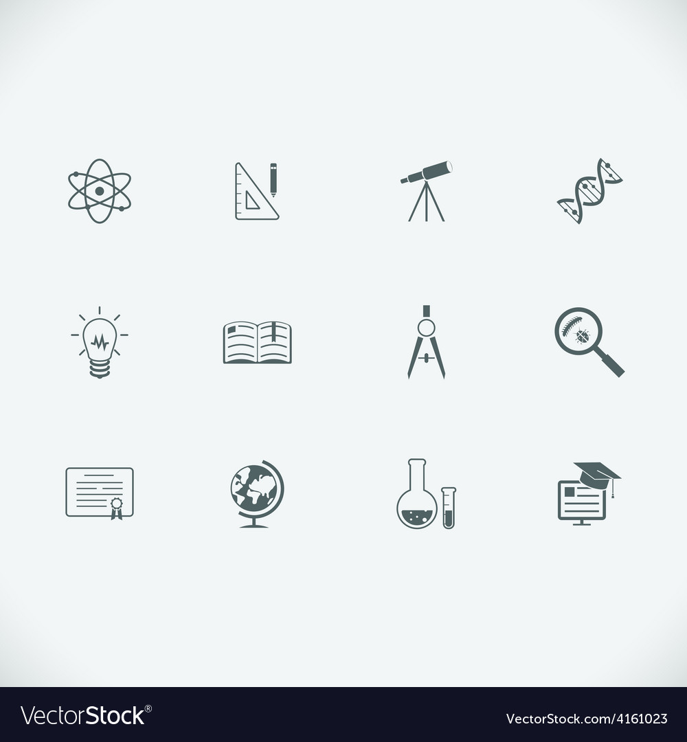 Education and learning modern line icons vector | Price: 1 Credit (USD $1)