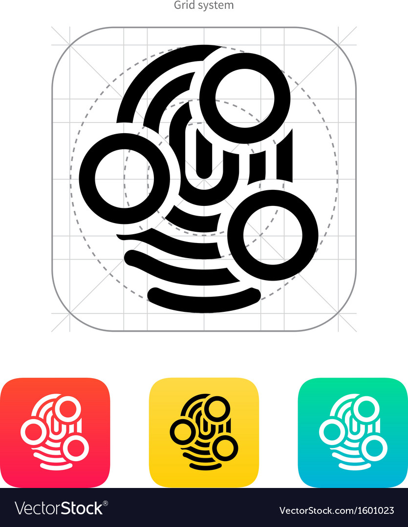 Fingerprint whorl type scan icon vector | Price: 1 Credit (USD $1)