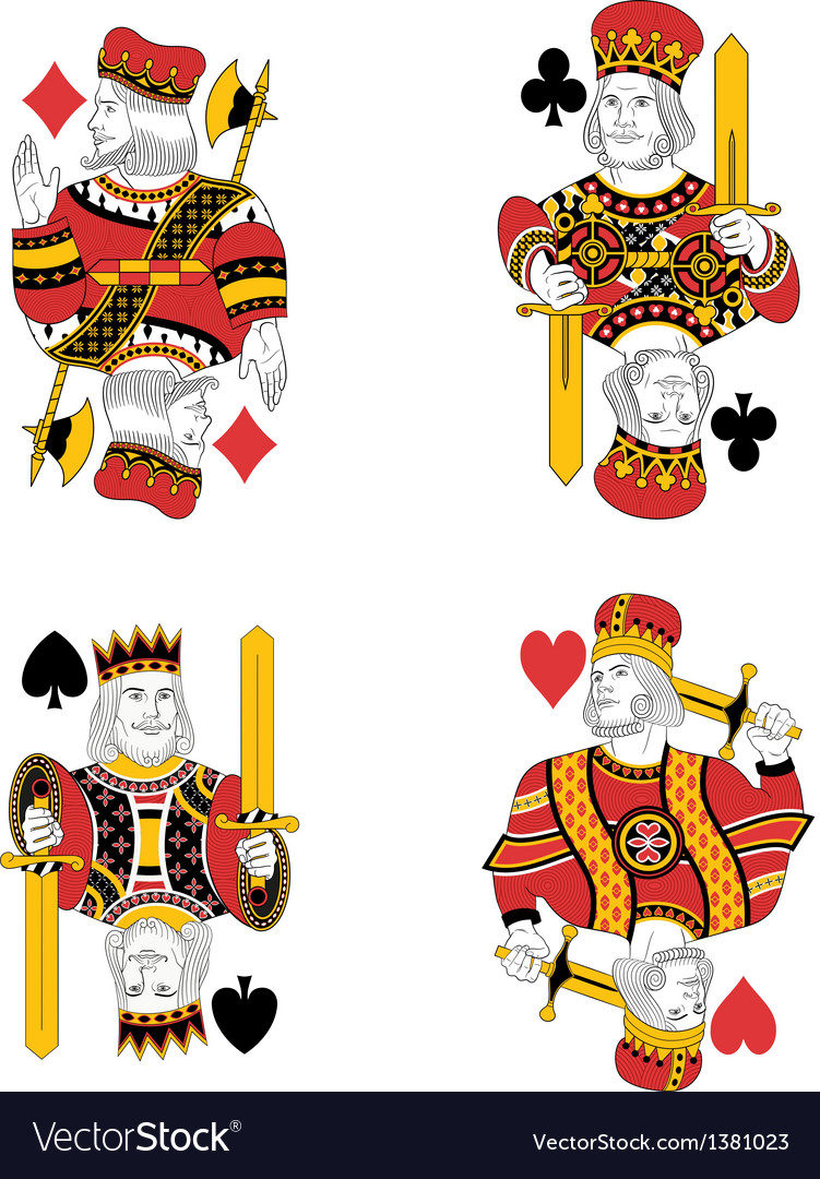 Four kings vector | Price: 1 Credit (USD $1)