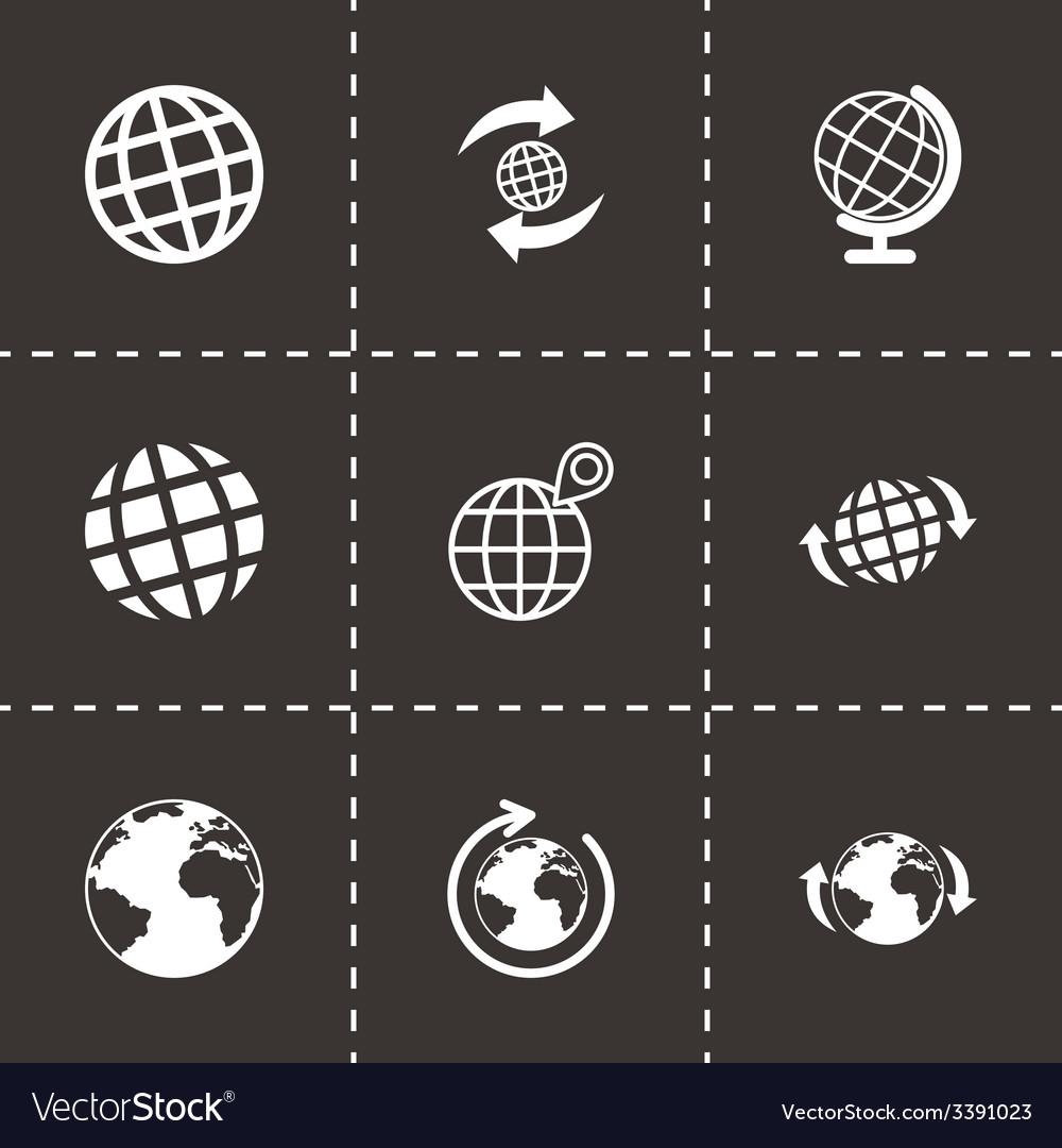 Glode icon set vector | Price: 1 Credit (USD $1)