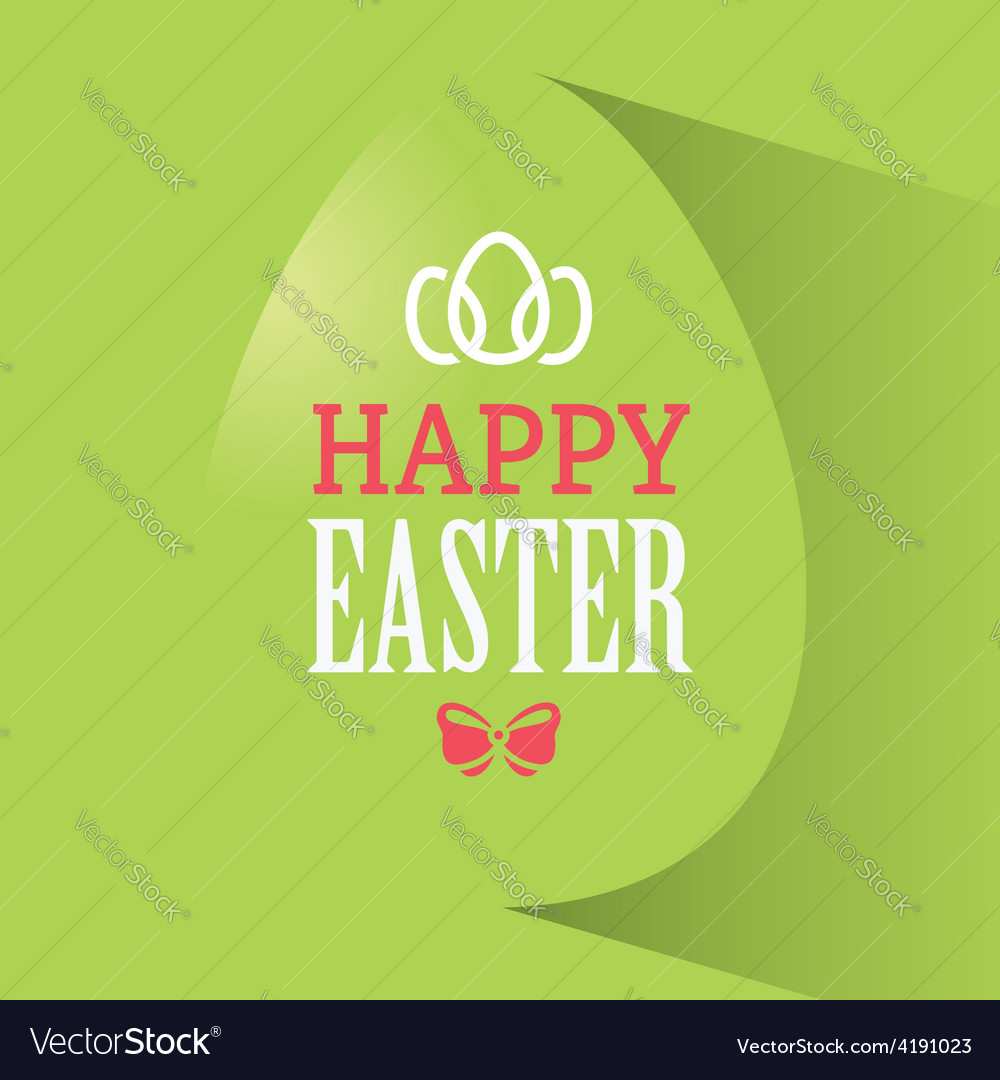 Happy easter green banner vector | Price: 1 Credit (USD $1)