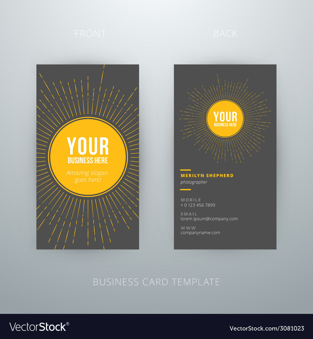 Modern simple business card template vector | Price: 1 Credit (USD $1)