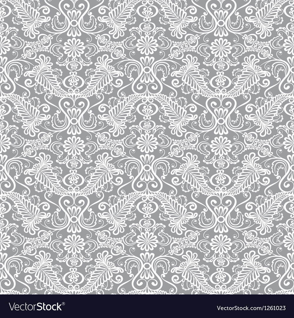 Seamless lace floral pattern vector | Price: 1 Credit (USD $1)