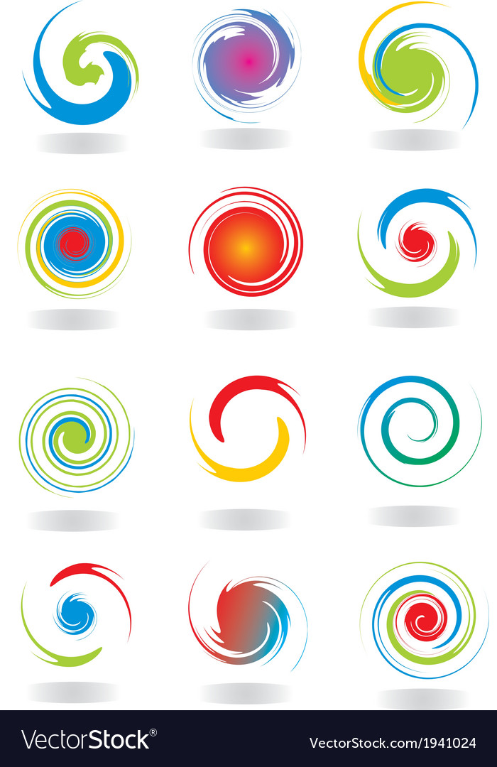Abstract circular twist vector | Price: 1 Credit (USD $1)