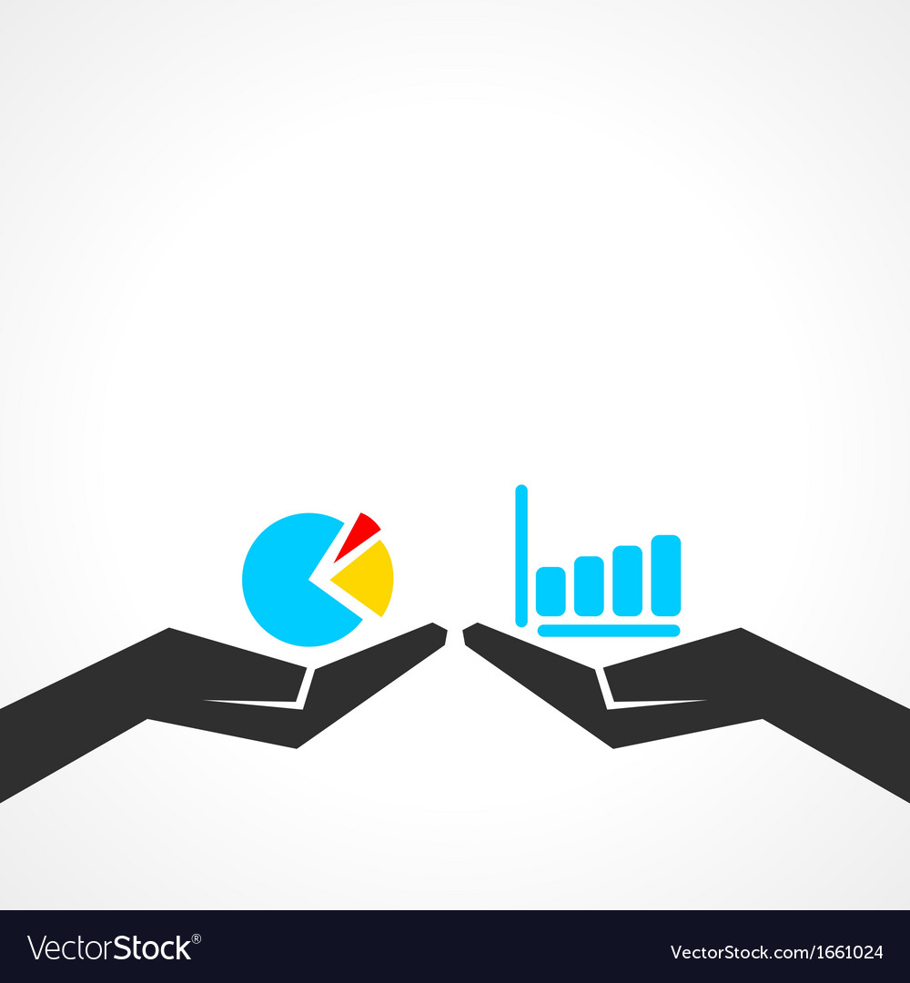 Business graph concept vector