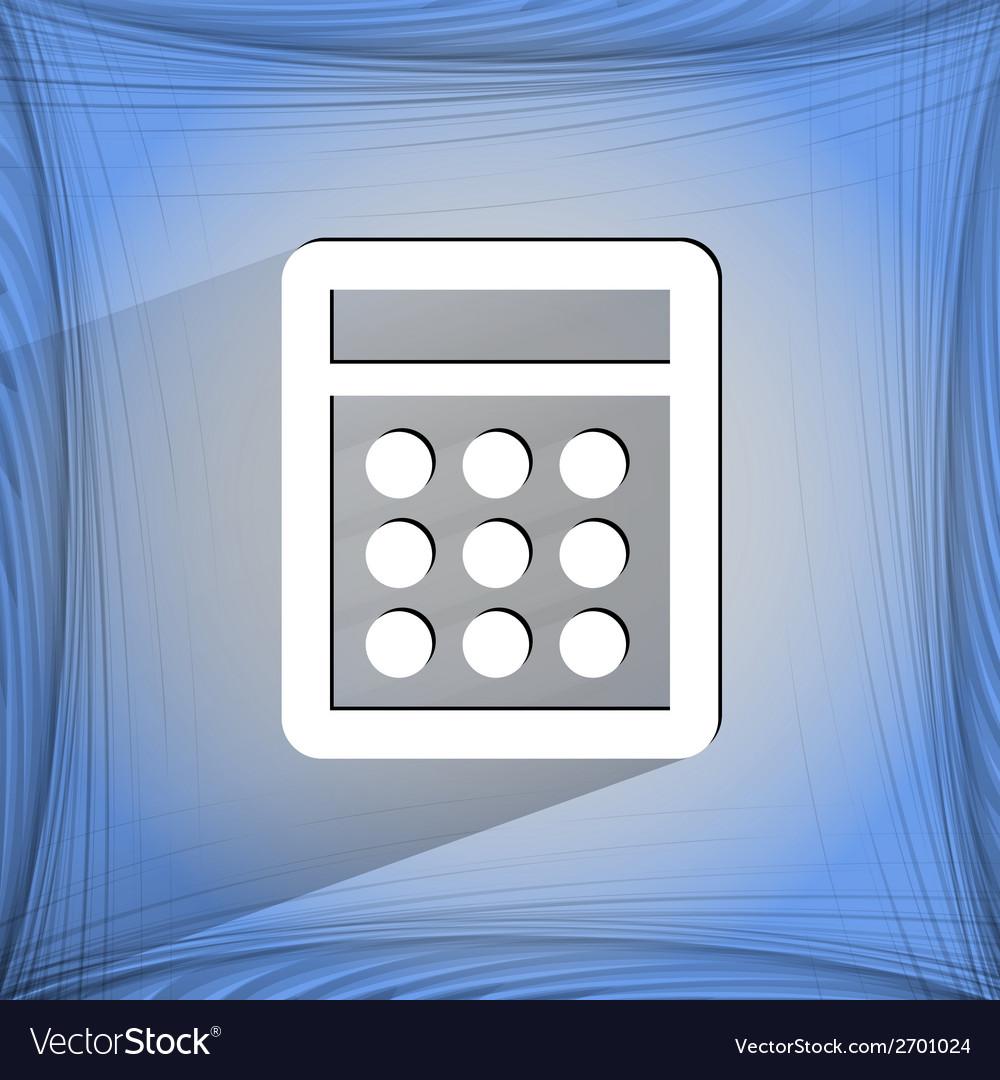 Calculator flat modern web design on a flat vector | Price: 1 Credit (USD $1)
