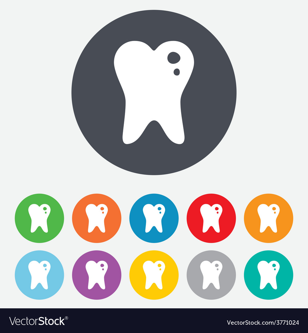 Caries tooth sign icon dental care symbol vector | Price: 1 Credit (USD $1)