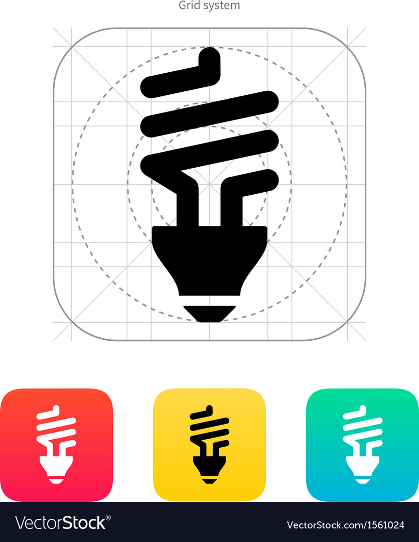 Cfl bulb icon vector | Price: 1 Credit (USD $1)