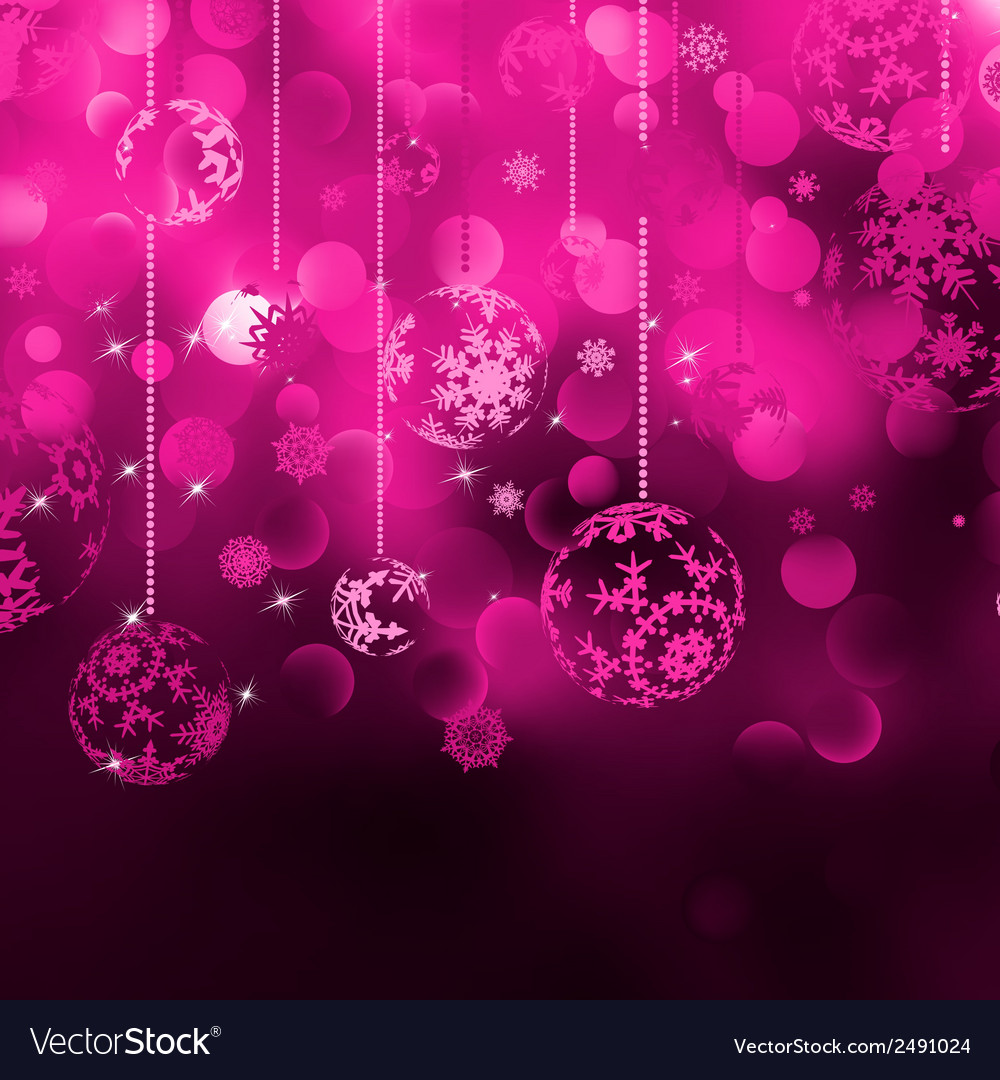 Christmas bokeh background with baubles eps 8 vector   Price: 1 Credit (USD $1)
