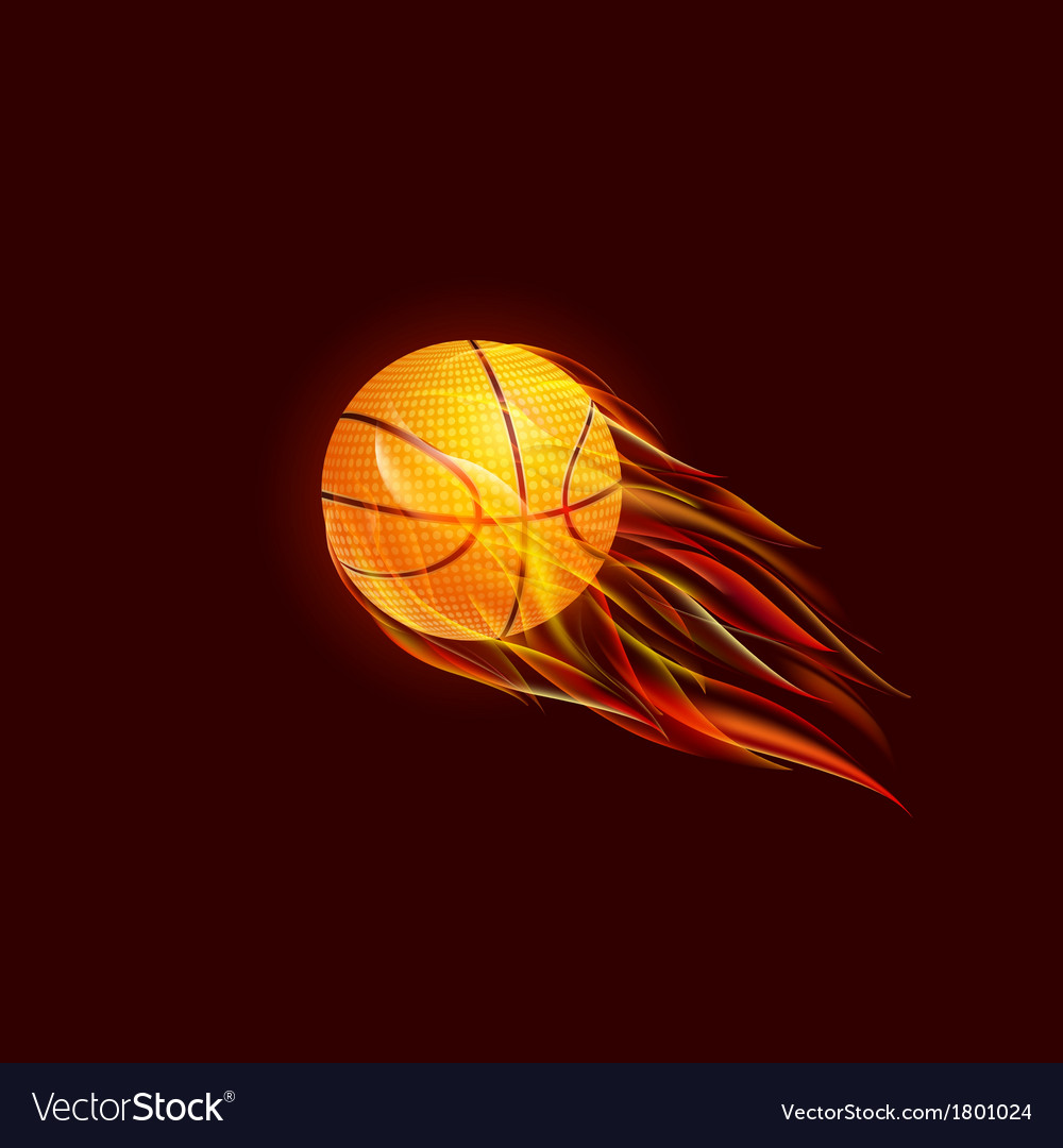 Flying baseball ball in flame vector   Price: 1 Credit (USD $1)