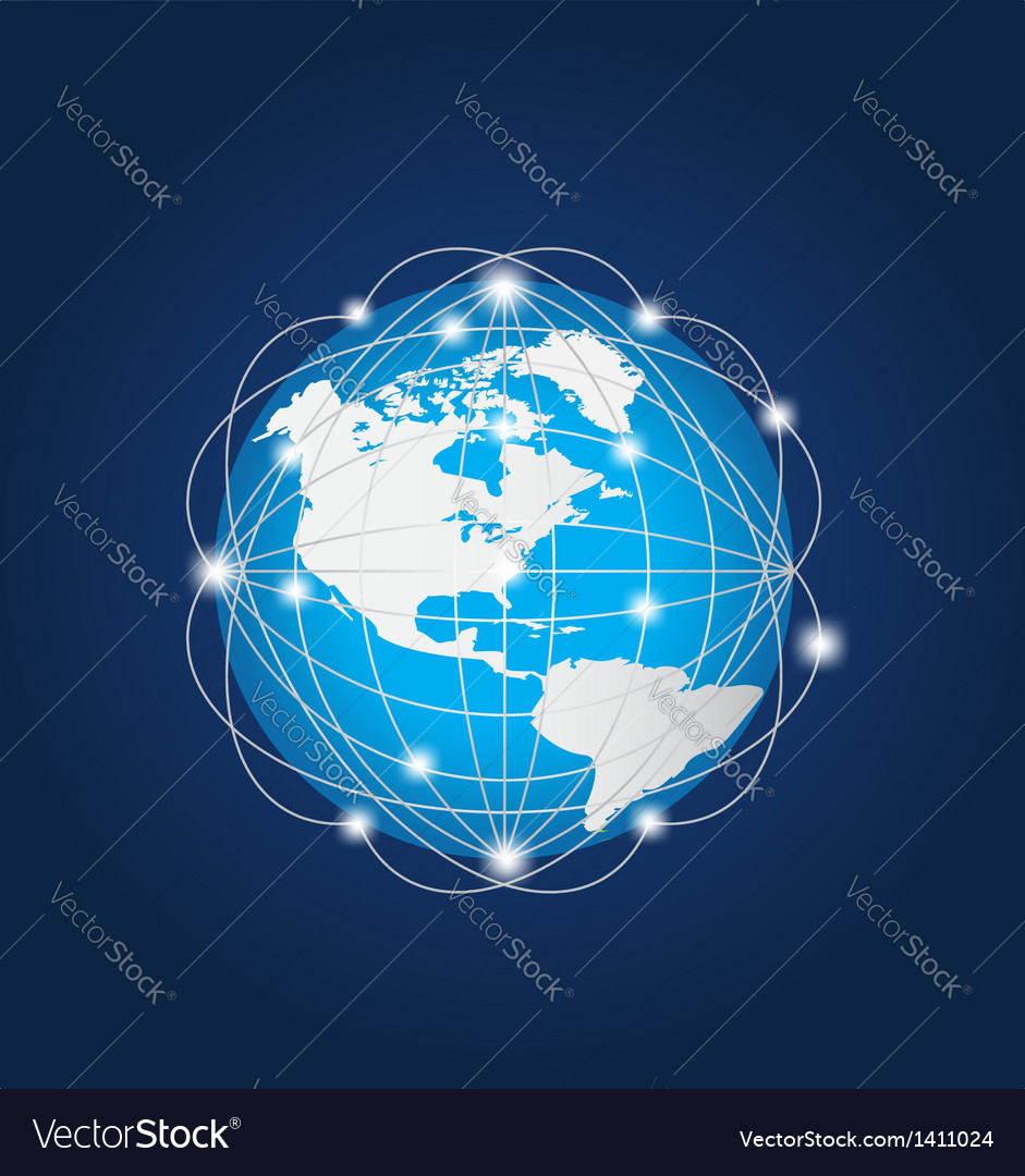 Global network america vector | Price: 1 Credit (USD $1)