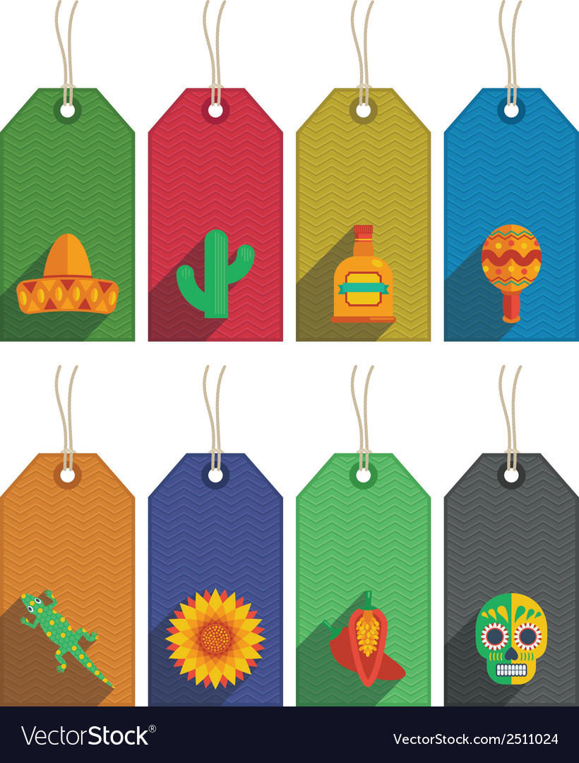Mexican gift tags vector | Price: 1 Credit (USD $1)