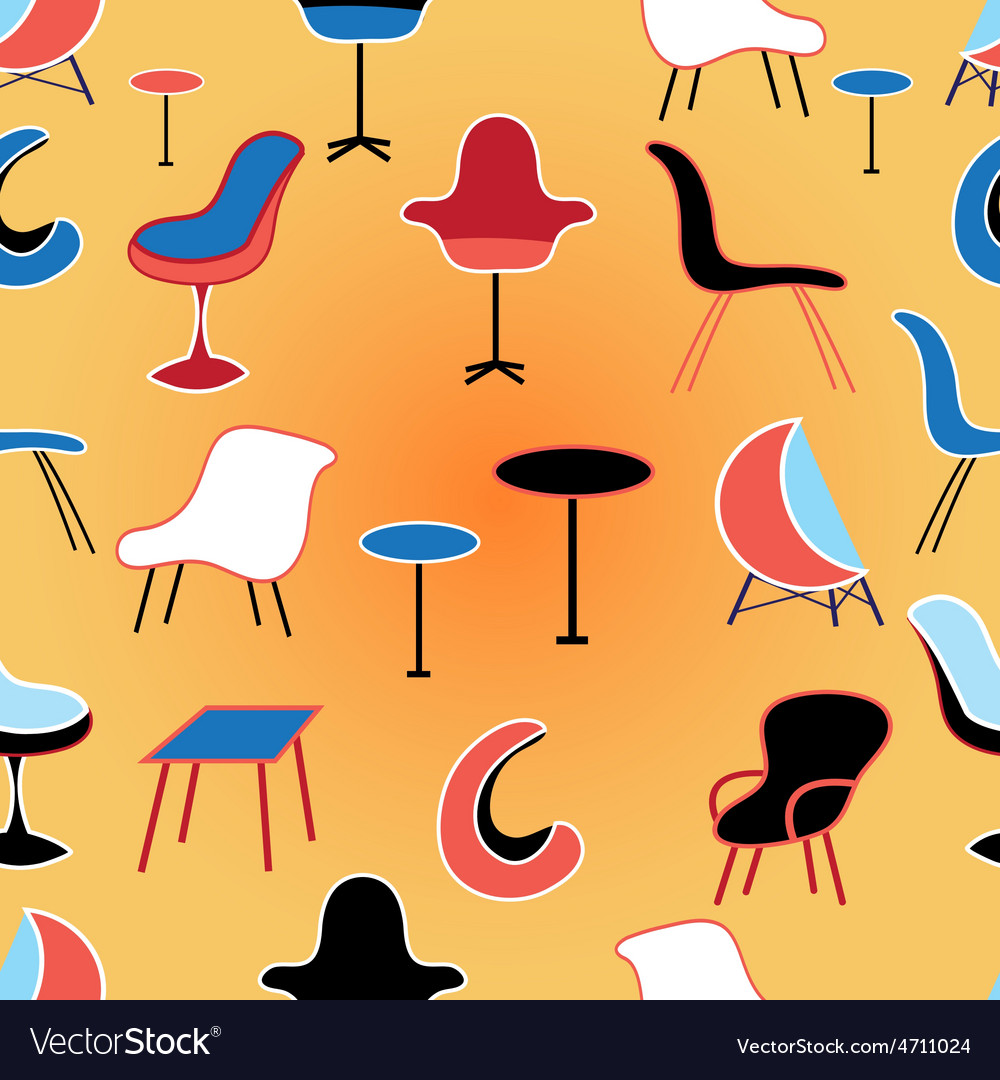 Pattern of different seating furniture vector | Price: 1 Credit (USD $1)