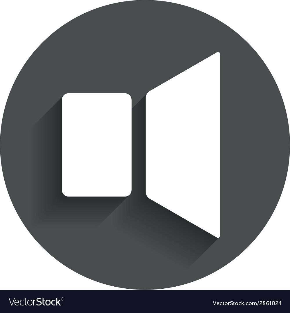 Speaker volume sign icon sound symbol vector   Price: 1 Credit (USD $1)