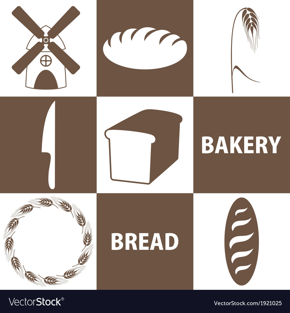 Bread icon set vector | Price: 1 Credit (USD $1)