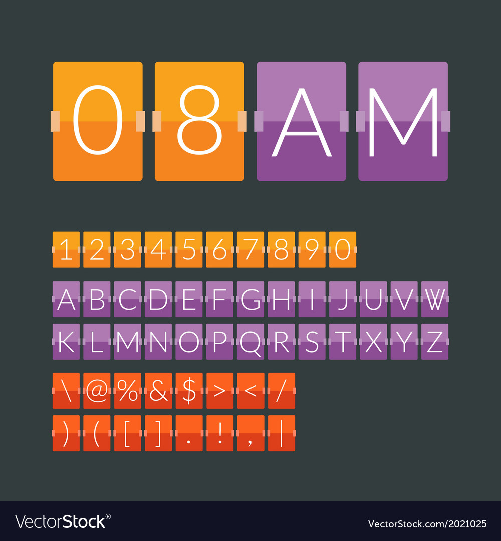 Flat countdown timer vector | Price: 1 Credit (USD $1)