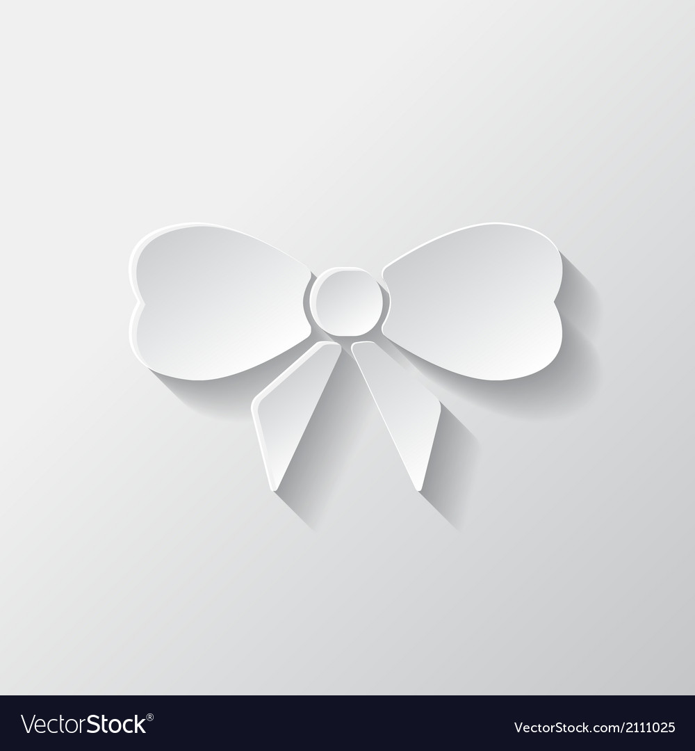 Gift christmas bow web icon vector | Price: 1 Credit (USD $1)