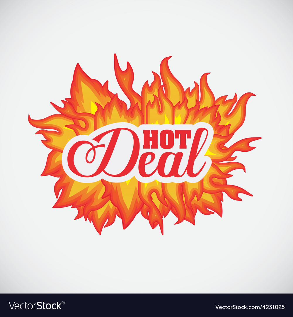 Hot deal design vector | Price: 1 Credit (USD $1)