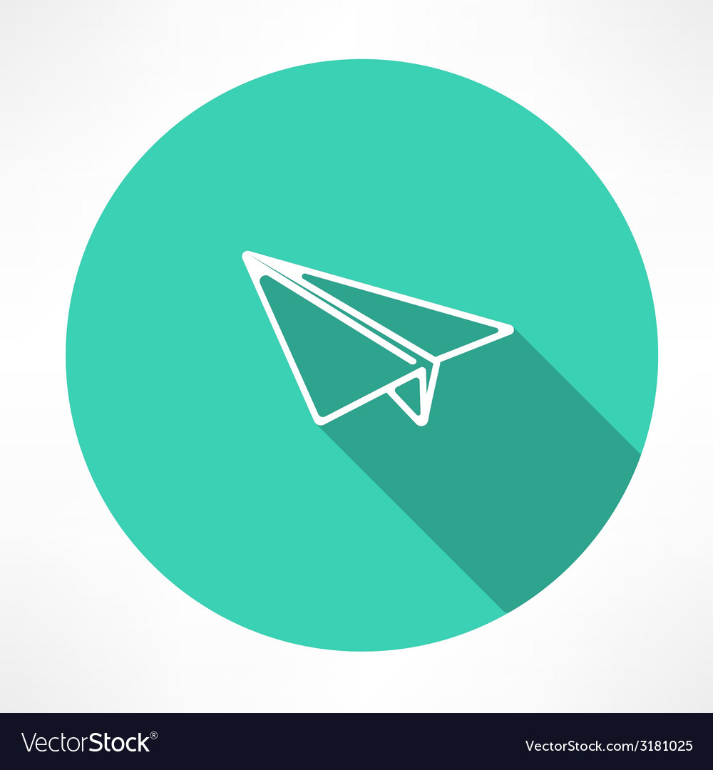 Paper airplane vector | Price: 1 Credit (USD $1)