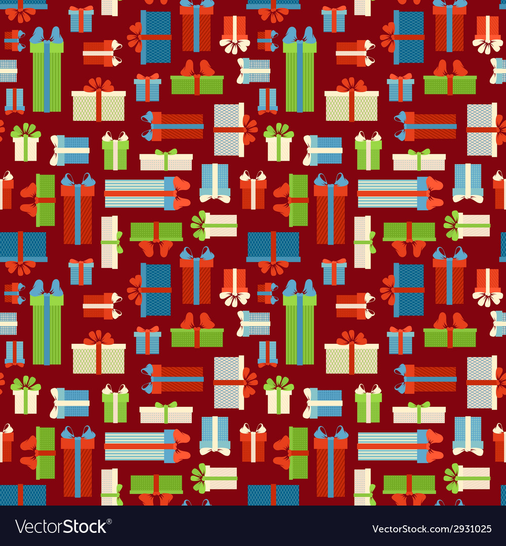 Seamless gift boxes pattern vector | Price: 1 Credit (USD $1)