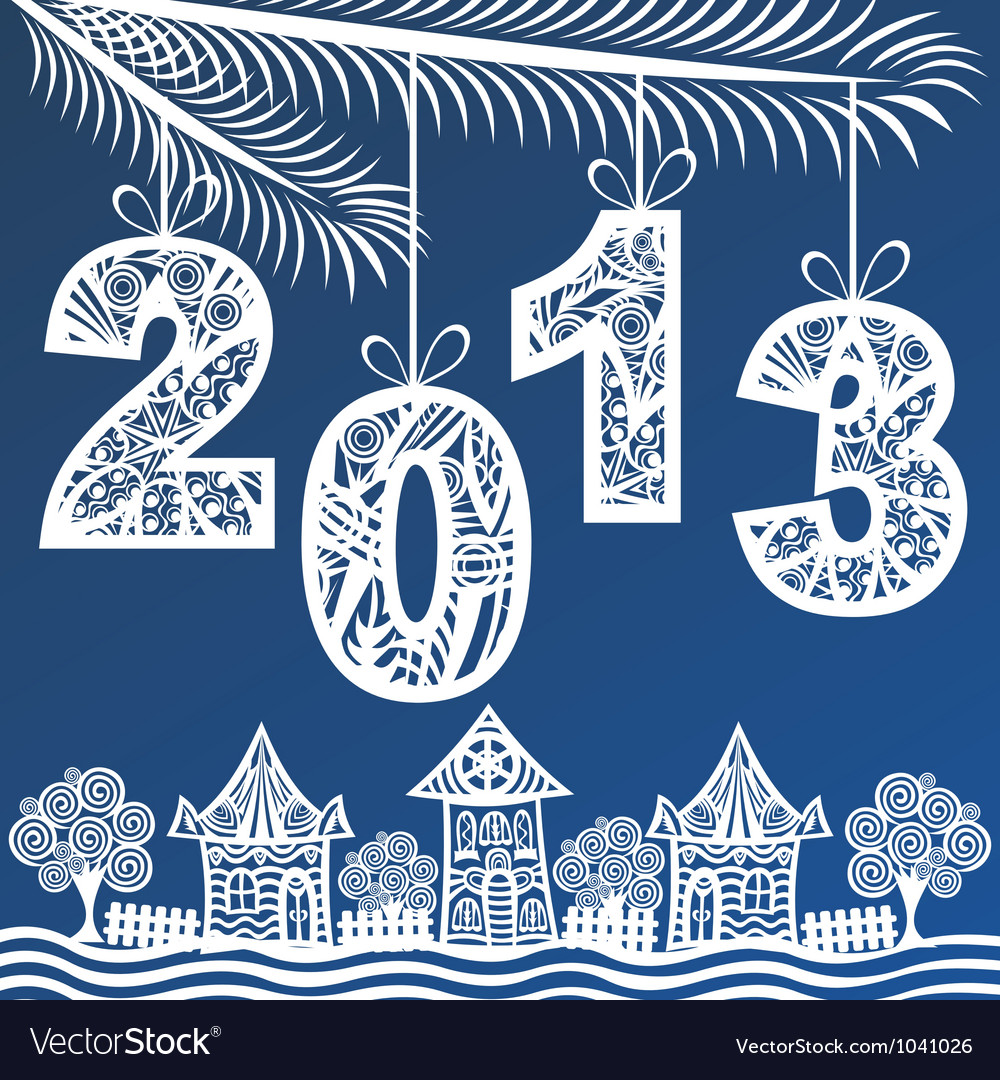 2013 christmas new year background vector | Price: 1 Credit (USD $1)