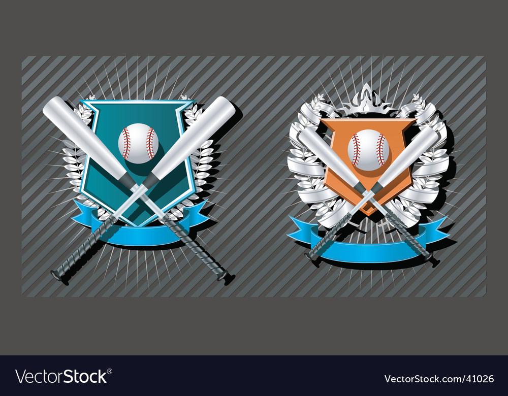 Baseball emblem vector | Price: 1 Credit (USD $1)