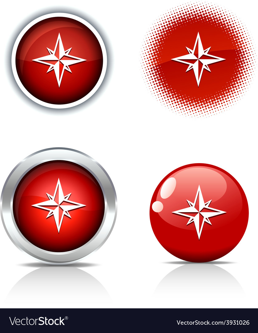 Compass buttons vector   Price: 1 Credit (USD $1)